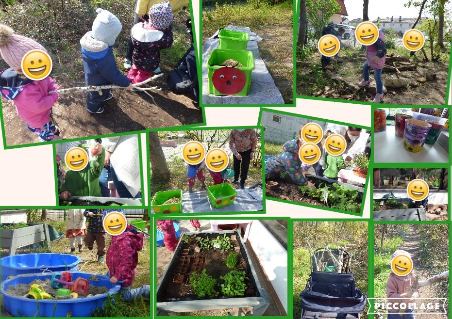 Die Kinder sind begeistert dabei und helfen kräftig mit!